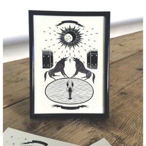 Il mazzo di carte - La Lune (Cartolina) by Isoì