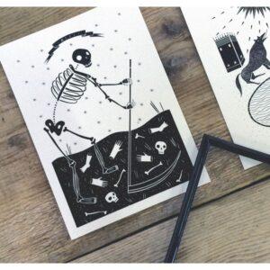 Il mazzo di carte - La Morte (Cartolina) by Isoì