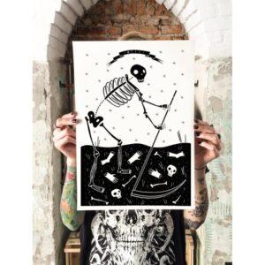 La Morte poster by Isoì
