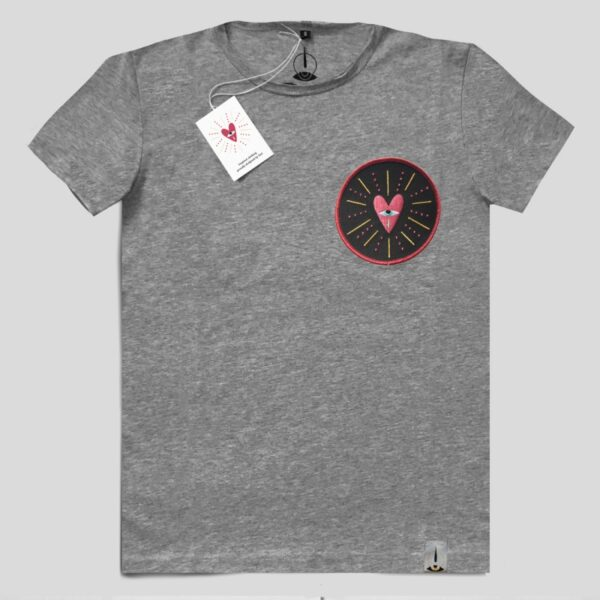 T-Shirt Ricamo - Cuore Collection (Mixed Grey)