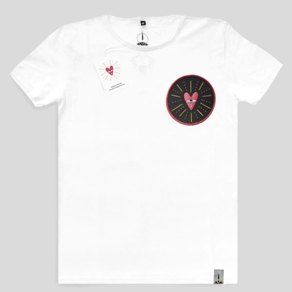 t-shirt ricamo cuore collection white