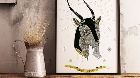 Oh my goat illustrazione by Isoì